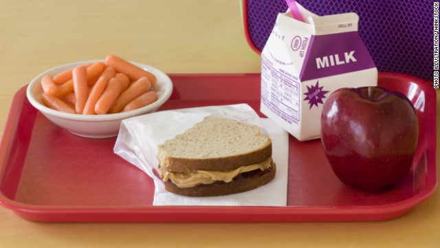 Cafeteria trays rarely get wiped off between meals, Rotbart says. With food and a variety of kids touching them, they can be hosts to some serious germs. Rotbart tells kids to use hand sanitizer after they bring their trays to the table.