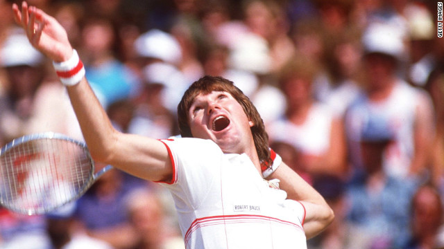 American Jimmy Connors has played more ATP Tour matches than anyone else, winning eight grand slams during a glittering 24-year career. Connors is also widely credited with introducing grunting to top-level tennis.