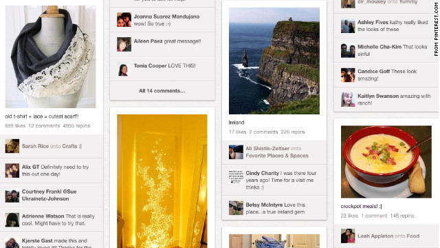 Pinterest, the web-based 