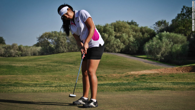 As a teenager, Haddioui would spend up to 10 hours per day practicing on her home course in Agadir.