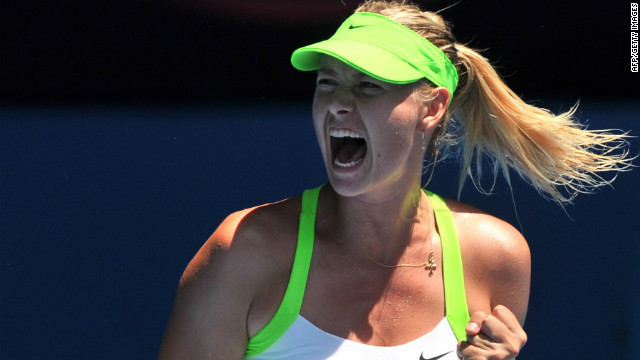 Sharapova's intensity and desire to win have kept her at the top of the women's game since her first grand slam title in 2004. 