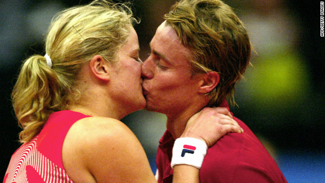 Hewitt and Clijsters, both former world No. 1s, met at the Australian Open in 2000, reportedly after Kim's sister Elkie asked her to get Lleyton's autograph. They announced their engagement in 2003 but split in October 2004. Both decried the &quot;malicious gossip&quot; that followed their separation.