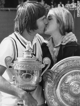 Chris Evert's romance with Jimmy Connors was one that captivated the sporting world after they both won Wimbledon singles titles in 1974, but a planned wedding in November that year was called off. Tennis writer Peter Bodo famously said of the couple: &quot;It was a match made in heaven, not on Earth, which is probably why it didn't last.&quot;