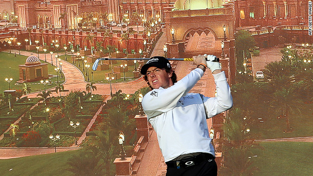 Roy McIlroy led the Abu Dhabi Golf Championship after an opening round of 67 on Thursday.