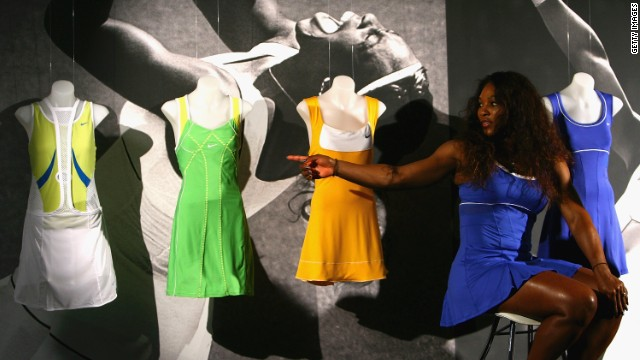 America's 13-time grand slam champion Serena Williams also unveiled a collection of dresses for the 2012 Australian Open.