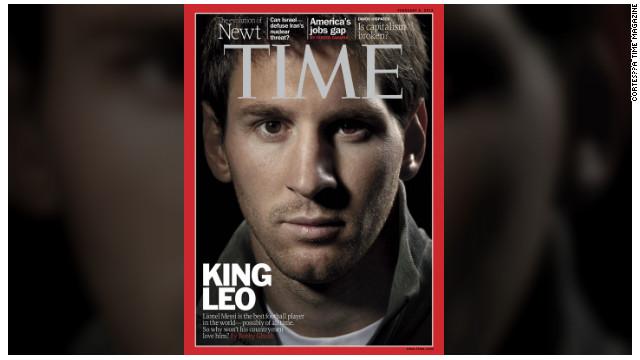 "El ""Rey Leo"" Messi en la portada de la revista Time"