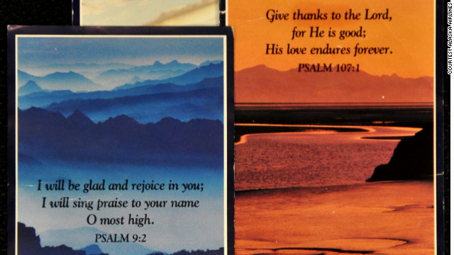 Alaska Airlines ends prayer cards on flights