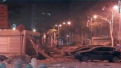 Building in Brazil partially collapses