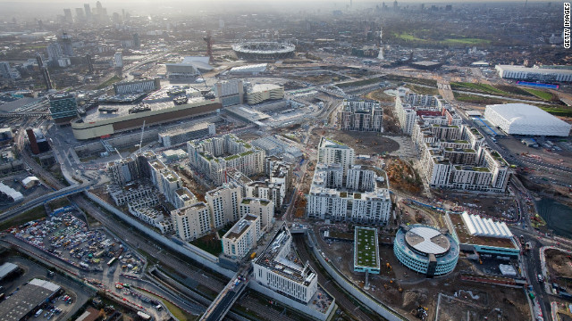 The Olympic Park is also nearly completed ahead of the four-yearly Games' opening ceremony.
