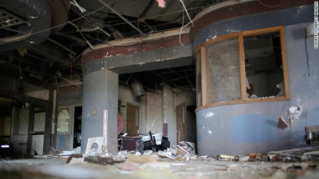 The tornado's destruction is seen in the hospital's emergency waiting area. Patients were taken to hospitals as far away as Springfield, Missouri, and Northwest Arkansas.