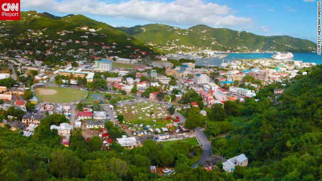 "Hezikiah Maddox shot this panoramic view of Road Town on Tortola. ""The British Virgin Islands is a wonderful getaway. It has some really nice places to get off the grid for a few days."""