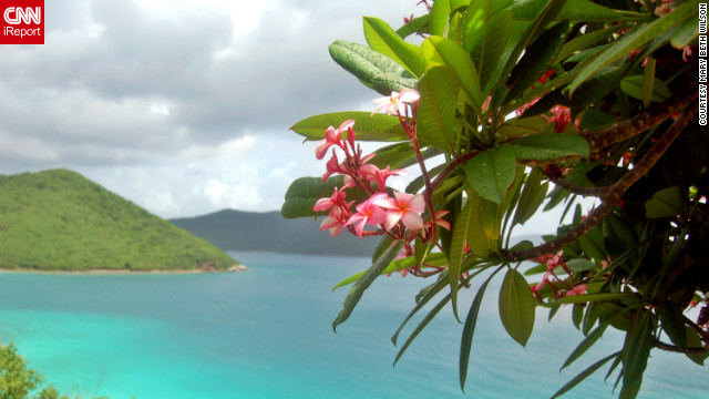 The British and U.S. Virgin Islands offer crystal blue waters and beautifully serene escapes. iReporters shared their favorite photos of paradise with us. Mary Beth Wilson captured this gorgeous view of St. John, looking toward the British Virgin Islands. &quot;St. John is our island paradise.&quot;