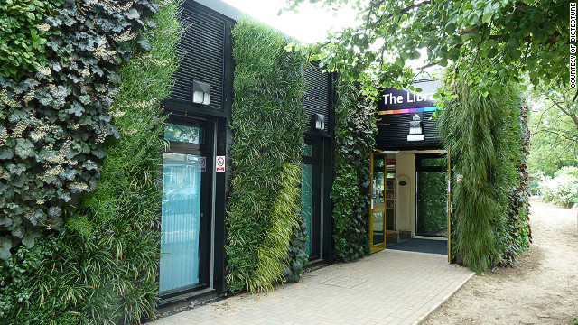 Buildings with green walls are popping up all over the UK thanks to companies like Biotecture. This one is on a library in the town of Grimsby in northeast England. 