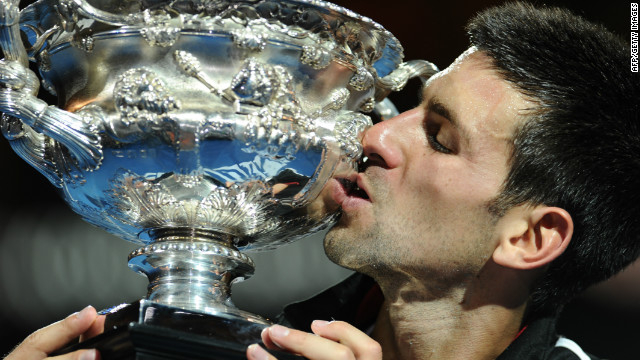 World No.1 Novak Djokovic was retaining the Australian Open title he won last year.