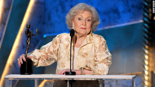 Betty White to her SAG Award: 'I remember you, sweetheart'