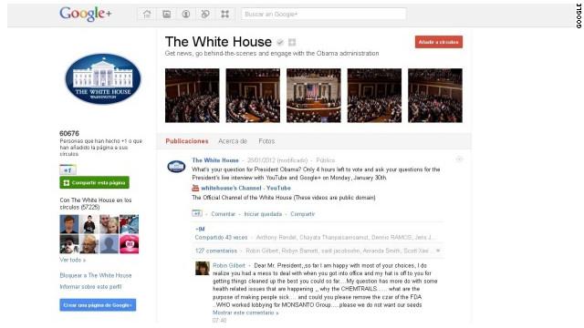 Obama responderá preguntas de ciudadanos en Google+