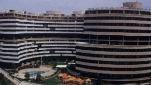 The Watergate, a sprawling office and building complex in Washington, remains a symbol of political corruption.