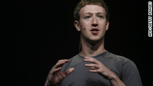 Facebook CEO Mark Zuckerberg at his company\'s f8 conference in September 2011.