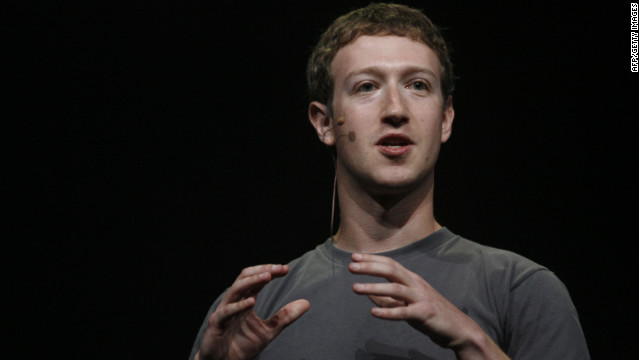 Facebook CEO Mark Zuckerberg at his company's conference in September 2011.