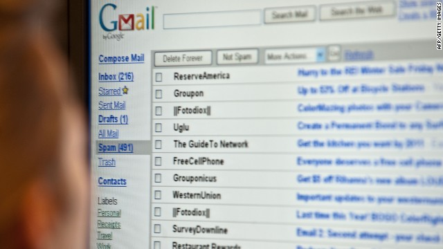 The U.S. made 7,969 requests for users' Gmail and other Google data in the first six months of 2012.