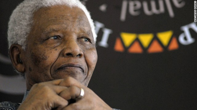 A file photo of Nelson Mandela dated August 20, 2008.