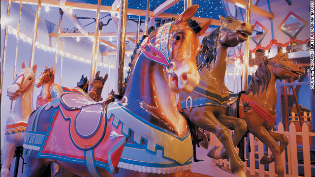 The 1917 Carousel was brought to the Children's Museum of Indianapolis in 1970.