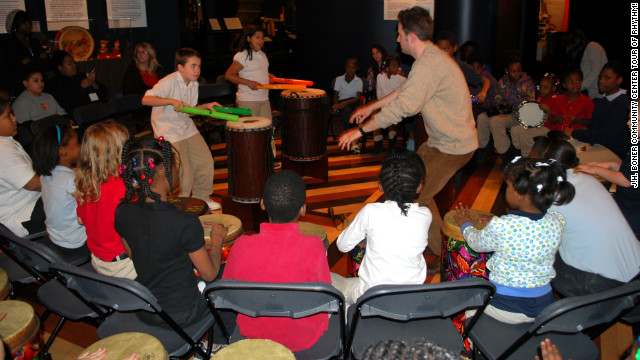 The Rhythm! Discovery Center has more than 150 instruments to play.