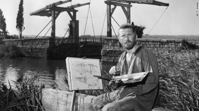 Van Gogh, portrayed here by Kirk Douglas in the 1956 film &quot;Lust for Life,&quot; led a famously troubled life, struggling with poverty and mental illness before his eventual suicide in 1890.