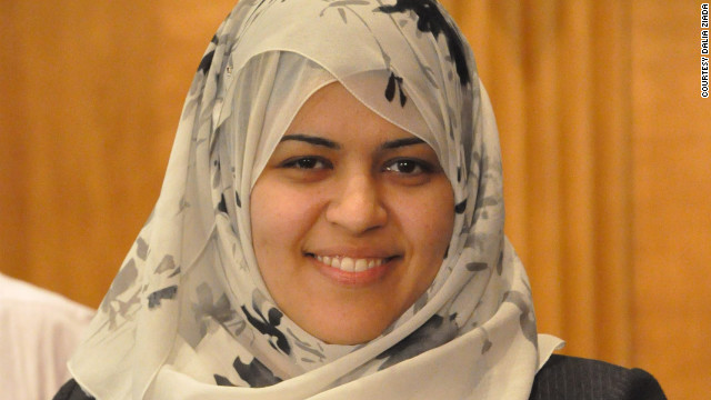"Dalia Ziada, Egypt Director of the American Islamic Congress, founded the first partisan womens' organizatin in Egypt, is an award-winning blogger and says women's biggest challenge is ""how they see themselves."""