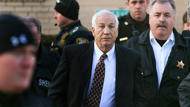 Jerry Sandusky was charged in November with sexually abusing young boys over a 14-year period.