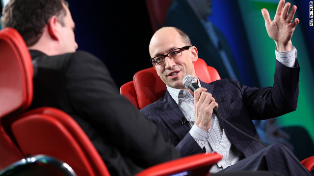 Twitter CEO Dick Costolo, right, speaks at News Corp.'s D: Dive Into Media conference on Monday.