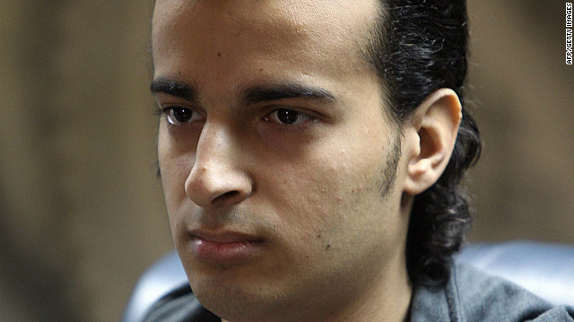 "Freed Egyptian blogger Maikel Nabil at a press conference after his release from prison. His brother's campaign to free him is featured in the film ""Back to the Square."""