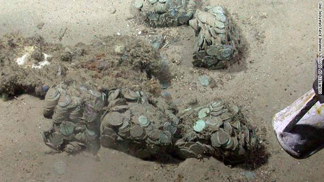 Spain says the treasure came from the Spanish ship Nuestra Senora de las Mercedes, which was sunk in a 19th century naval battle.