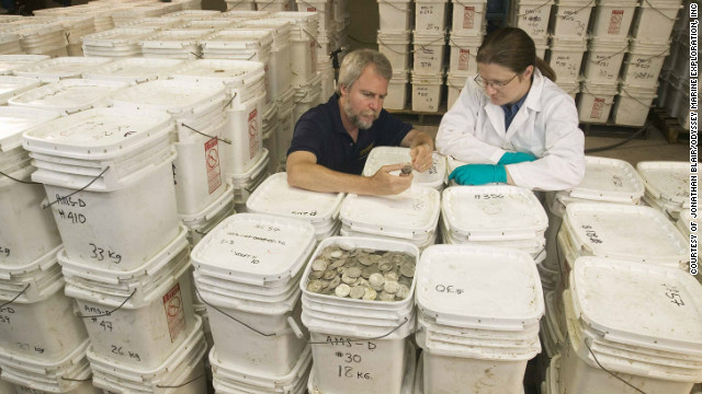 Florida-based Odyssey Marine Exploration says the coins, which weigh more than 17 tons and are valued at up to $500 million, are rightfully theirs under international law.