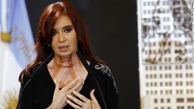 Argentinian President Cristina Fernandez de Kirchner has asserted her country's sovereignty of Las Malvinas.