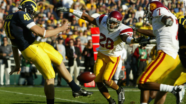 Mesko played college football the Michigan Wolverines and was part of the team which lost the 2007 Rose Bowl game 32-18 against the USC Trojans.
