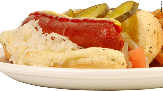 Breakfast buffet: National frankfurter and kraut week