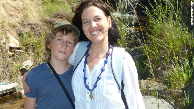 Caron von Zeil and her son. Caron founded &quot;Reclaim Camissa&quot; to protect Table Valley's water resources.