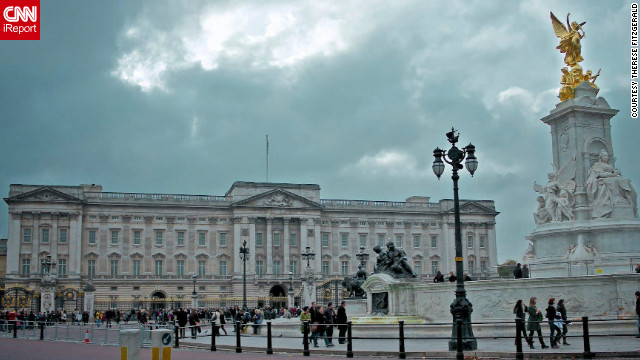 "Therese Fitzgerald snapped this shot of Buckingham Palace. ""Even on a cloudy day, London still holds onto its romanticism and historical charm."""
