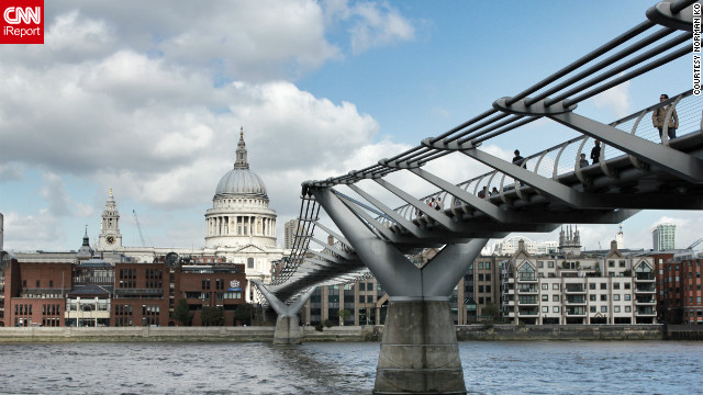 Norman Ko took this photo contrasting the new with the old -- the Millenium Bridge and St. Paul's Cathedral.