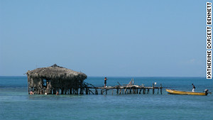 Floyde\'s Pelican Bar in Jamaica, owned by Floyde Forbes, can only be accessed by boat.