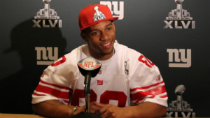 New York Giants wide receiver Victor Cruz visited the Pinto family this week.