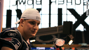 Speaking at the Super Bowl media day, Gronkowski says he\'s still not sure if he\'ll play Sunday.