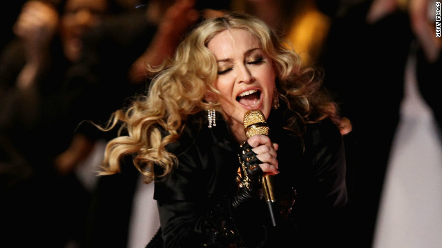 Madonna provided the halftime entertainment at the Lucas Oil Stadium.