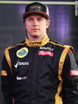 Finland's Raikkonen is returning to F1 having spent the last two years enjoying spells in both NASCAR and the World Rally Championship. The 32-year-old won the drivers' title with Ferrari in 2007.