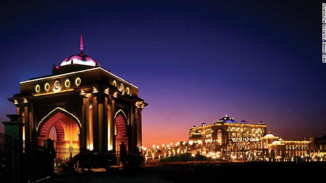 The lavish Emirates Palace Hotel cost around $3bn to build.
