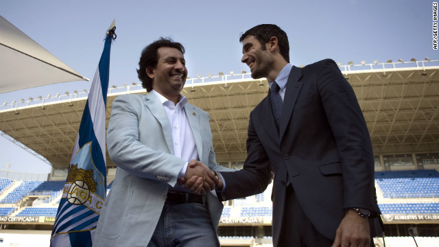 Sheikh Abdullah Bin Nassar Al-Thani (left), a member of the Qatari royal family, bought Spanish club Malaga for 36 million ($48 million) in June 2010. The investment brought with it a place in this season's UEFA Champions League. Malaga went on to reach the quarterfinals. 