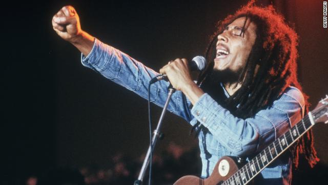 Bob Marley performs on stage, in a concert at Grona Lund, Stockholm, Sweden on January 1, 1978