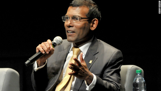 Former Maldives president beaten, his party says