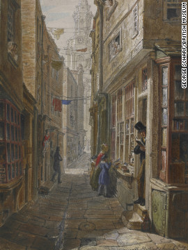 "As a boy, Dickens frequented ""pudding shops"" near the warren of small alleys and lanes south of St Martin's-in-the-Fields in central London."